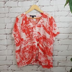 French Connection Sheer Loose Blouse